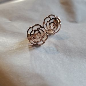 Jewelry - 3/$18 Hollow rose studs